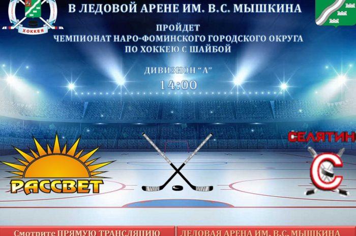 Чемпионат по хоккею с шайбой 2 февраля в 14:00