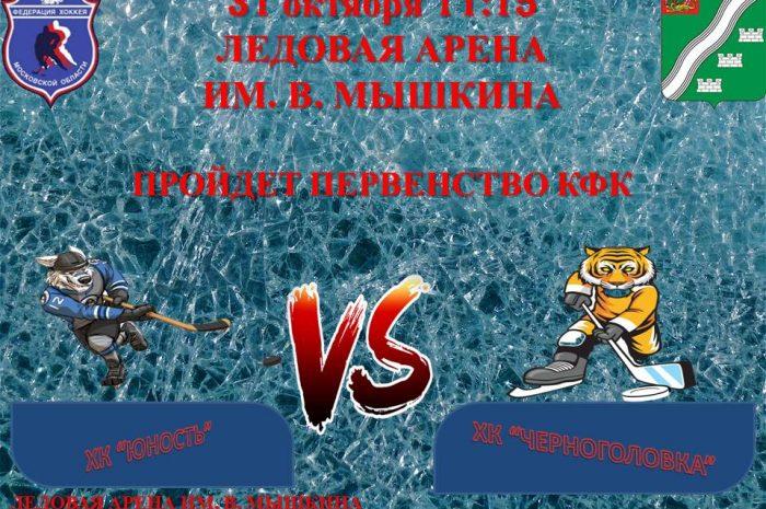 31 октября 11:15 пройдет матч открытого первенства Московской области по хоккею среди коллективов физической культуры 2020-2021