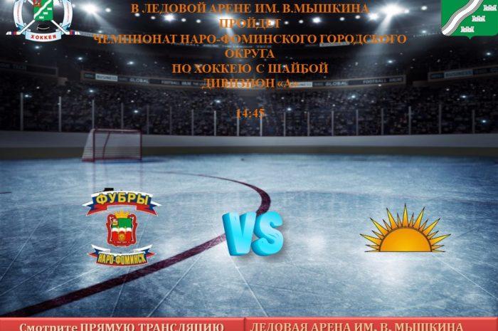 29 ноября пройдет чемпионат по хоккею среди любительских Команд Наро-Фоминского городского округа по хоккею с шайбой Дивизиона «А»
