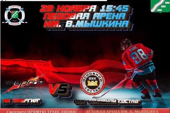 28 ноября в 15:45 пройдет очередной  матч  Всероссийского фестиваля по хоккею с шайбой среди любителей