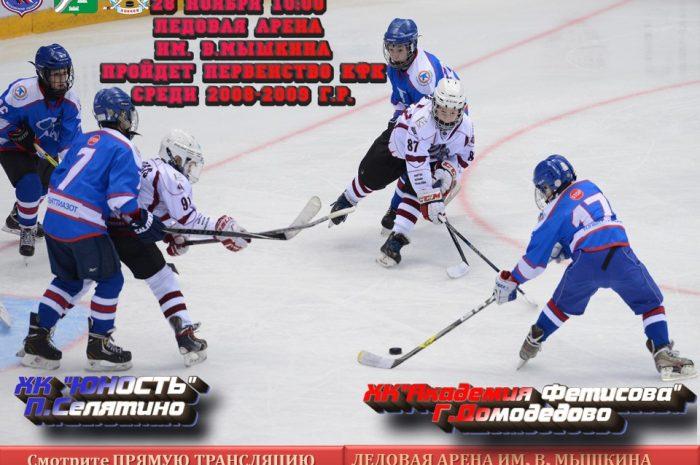 28 ноября 10:00 пройдет матч открытого первенства Московской области по хоккею среди коллективов физической культуры 2020-2021 (2008-2009 г.р.)