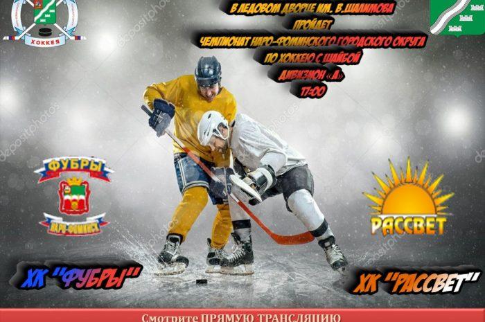 22 ноября в 17:00 пройдет чемпионат по хоккею среди любительских Команд Наро-Фоминского городского округа по хоккею с шайбой